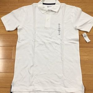 Boys white gap polo, nwt, size 14.